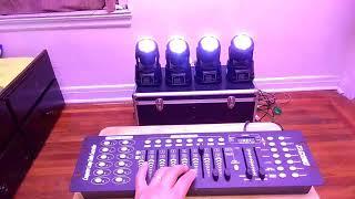 7x10 Watts cabezas mobiles wash LED con DMX controlador
