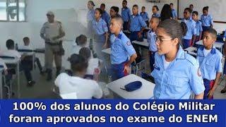 Colégio Militar tem 100% dos alunos aprovados no ENEM