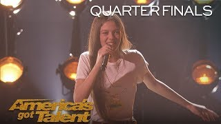 "Courtney Hadwin: Teen Powerhouse Sings ""Papa's Got A Brand New Bag"" - America's Got Talent 2018"