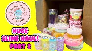 HUGE Slime Haul Honest Review KAWAII SLIME CO Part 2