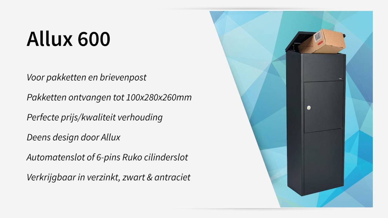 Unik Allux 600 pakketbrievenbus | Hardbrass BV - YouTube YS78