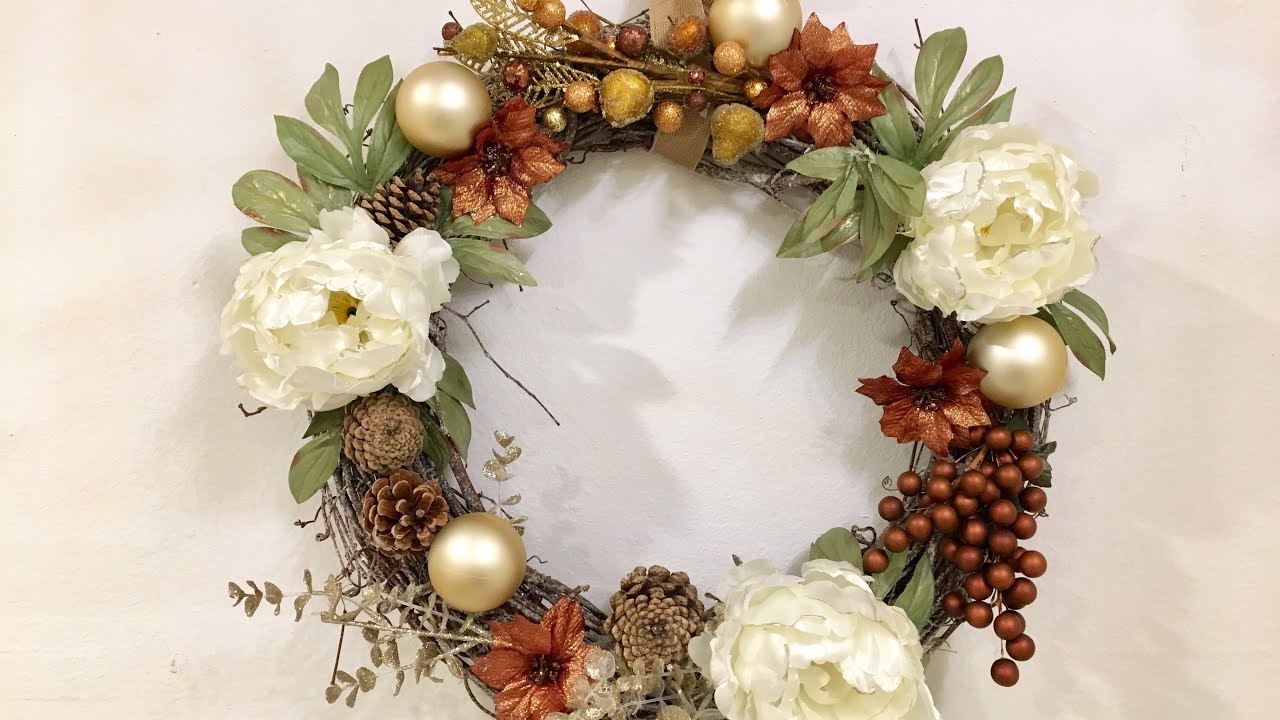 Rustic Christmas Wreath Diy.Easy Diy Christmas Wreath Rustic Wreath Diy