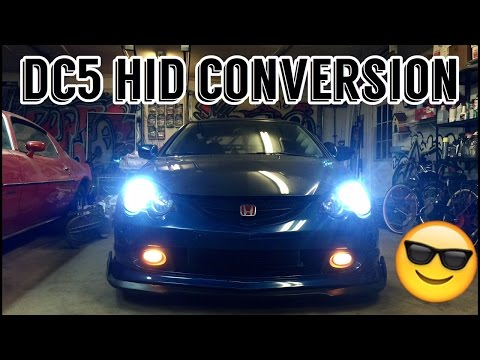 RSX HID Headlight Conversion / Step by Step - Full Kit
