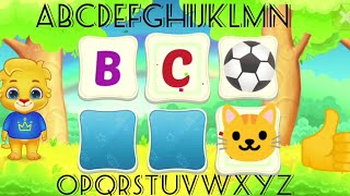 Alphabet songs with Childrens and learn alphabet song apple ball cat / open card