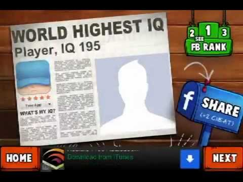 LEVEL 41 WALKTHROUGH What's my IQ ? (iPhone,iPod,iPad) IQ TEST
