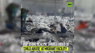 Steve Scalise 의원이 이민자 시설의 '아동 학대'동영상을 공유합니다.