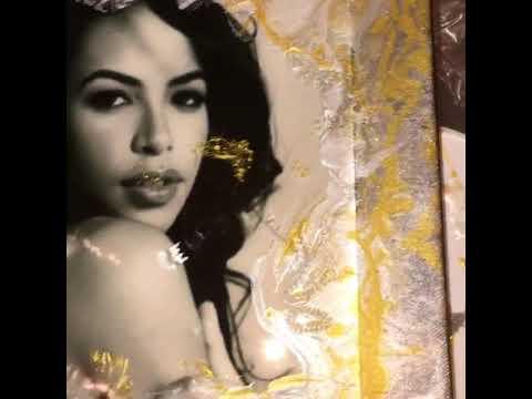 Aaliyah resin artwork