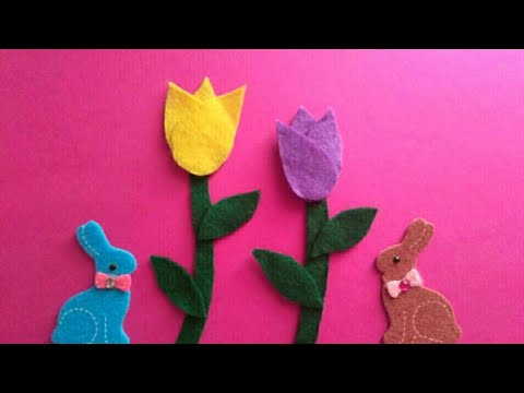 Diy- Tulips 🌷 🌷 - Creative Flower 🌼🌼