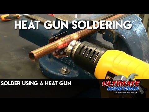Solder Using A Heat Gun