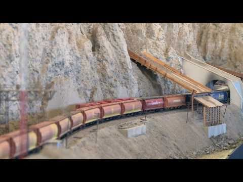Thompson River Canyon Canadian National Railway - n scale train layouts - PoathTV