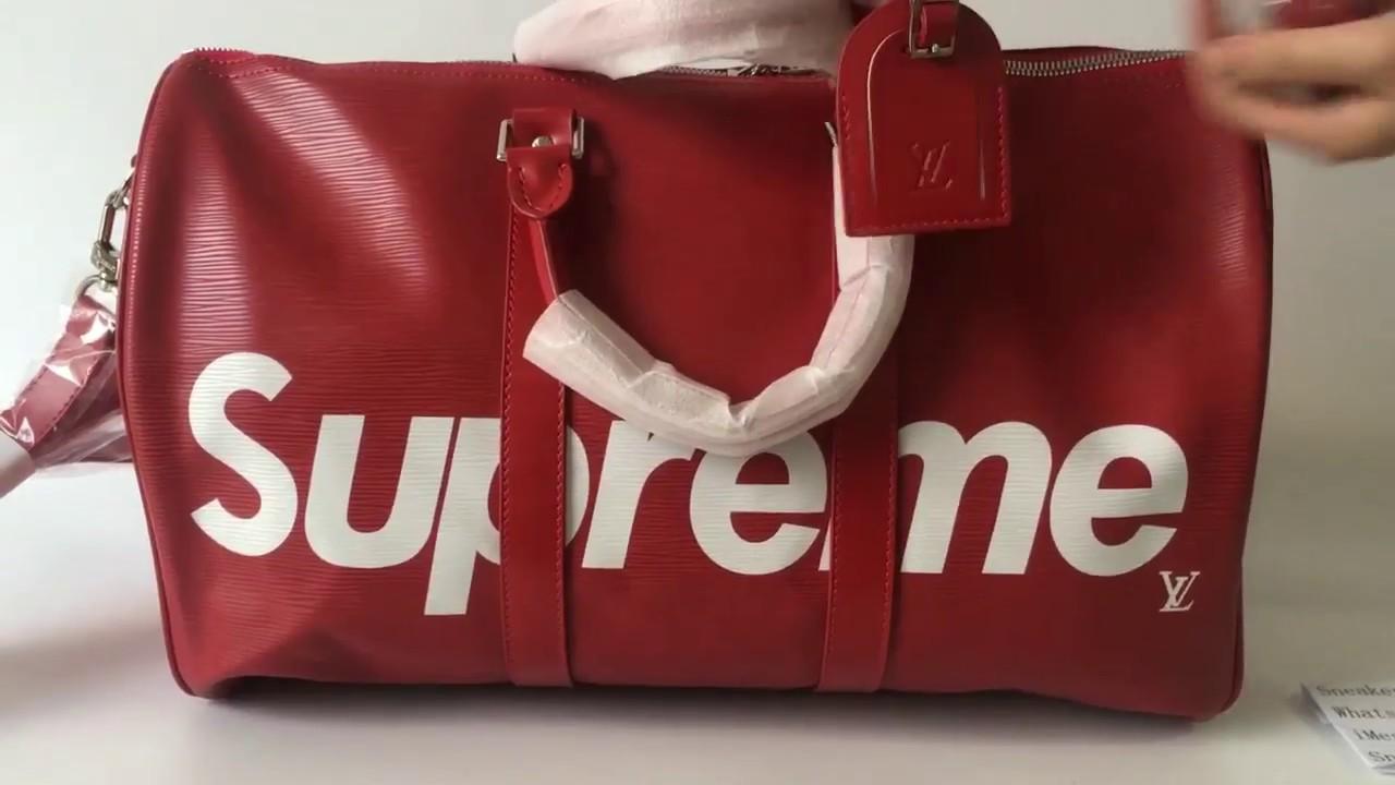 Supreme X Louis Vuitton Duffle Bag Review Best Replica