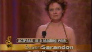 Susan Sarandon winning Best Actress for Dead Man Walking