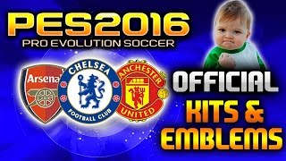 pes 2016 official kits and badges tutorial how to install