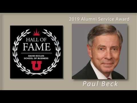 Paul Beck earns 2019 David Eccles School of Business Alumni Service Award