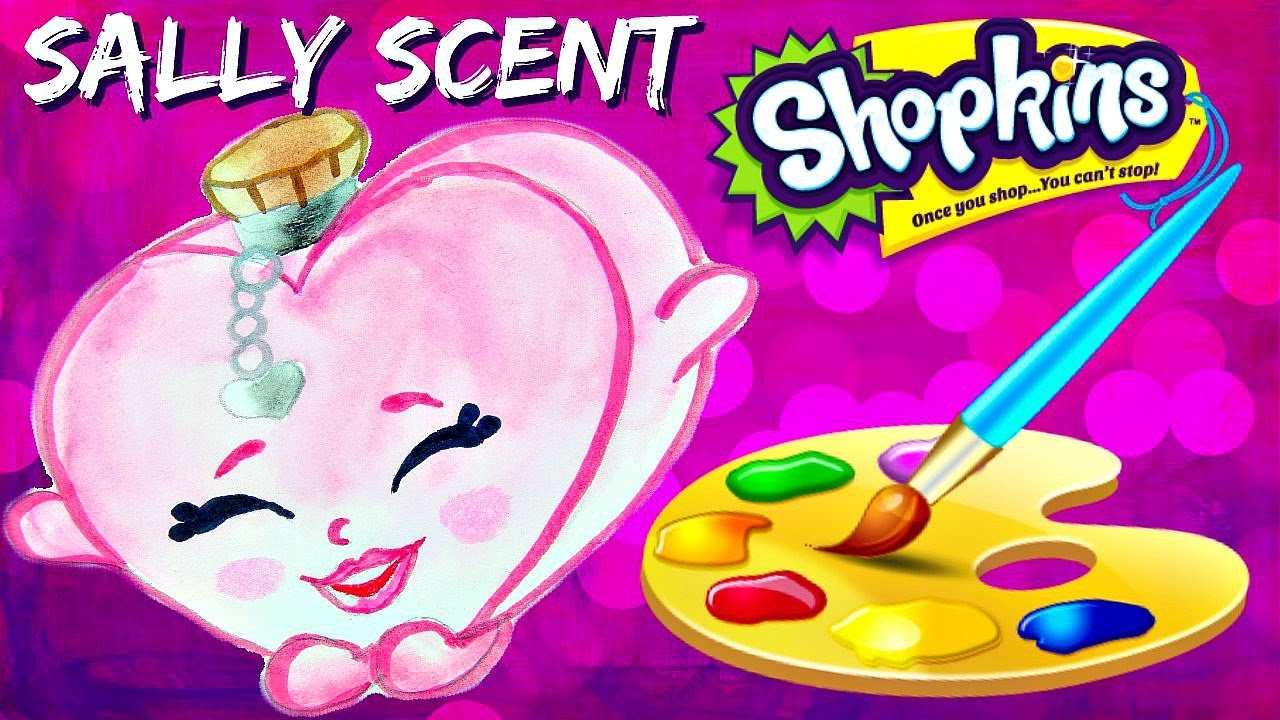 how to draw and color shopkins sally scent easy plus fashion