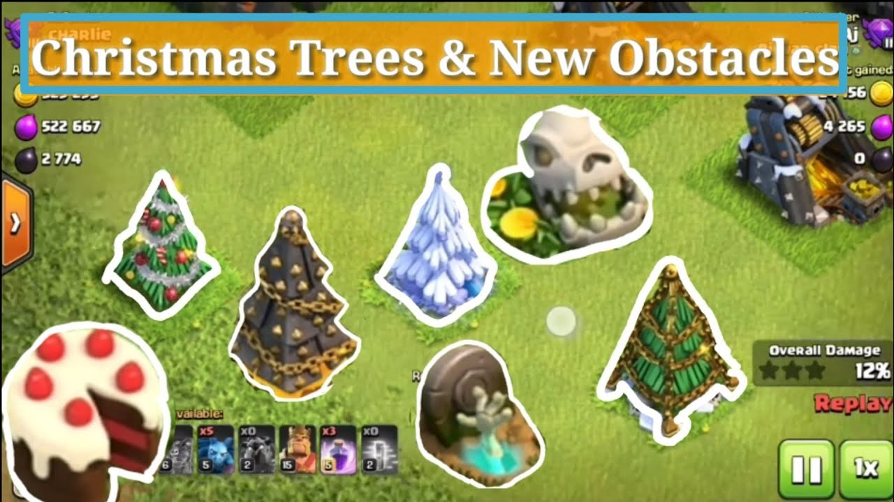 All Coc Christmas Trees.Christmas Trees New Obstacles In Clash Of Clans 2018