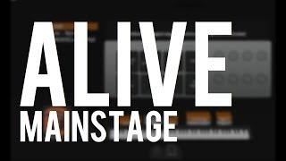 Alive (Hillsong Young & Free) - custom Mainstage patch