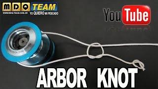 Nudo Arbor. How to Tie Arbor Knot (Attach line to spool). Atar el hilo al carrete