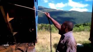 Power Washing Dump Truck