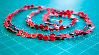 DIY Red Duct Tape Necklace