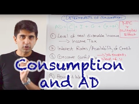Y1/IB 19) Consumer Spending and Aggregate Demand