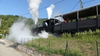 ST JEAN DE MUZOLS depart train des gorges pn camping 19 aout 2017