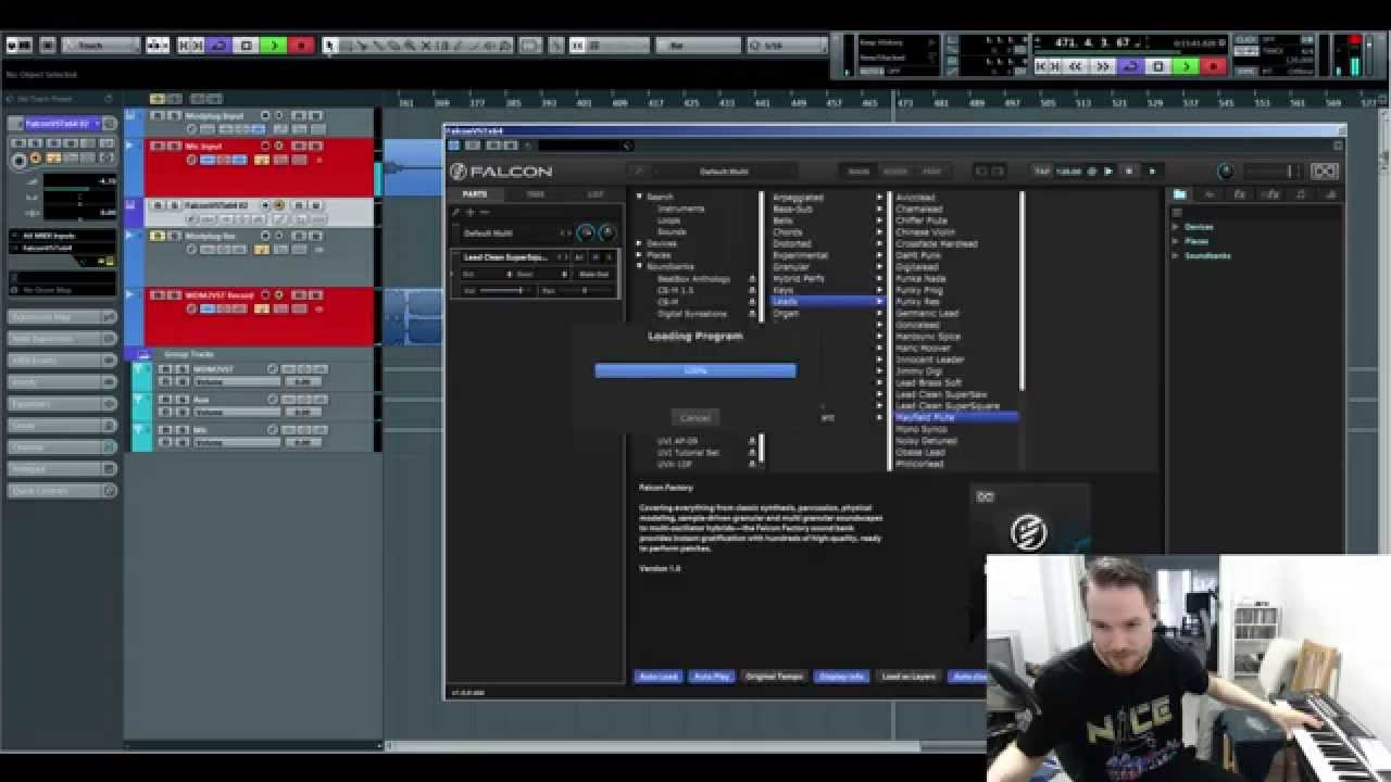 UVI's Falcon VST - Noodling Around with Presets 01