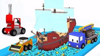 Gigantyczny Lizak - Z Małymi Samochodzikami: buldożer, dźwig, koparka, bajka edukacyjna
