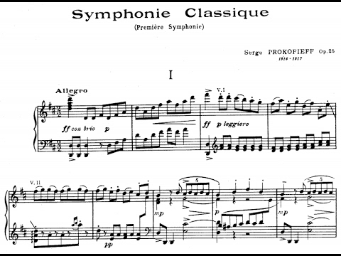 "Image result for Prokofiev • Symphony No. 1, Op. 25 ""Classical"""