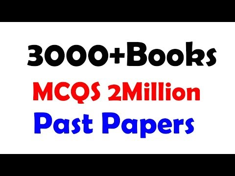 PDF Books, Past Papers, Notes, Sample Papers for FPSC, PPSC, NTS, PTS,  UTS,STS, SPSC, KPPSC, BPSC