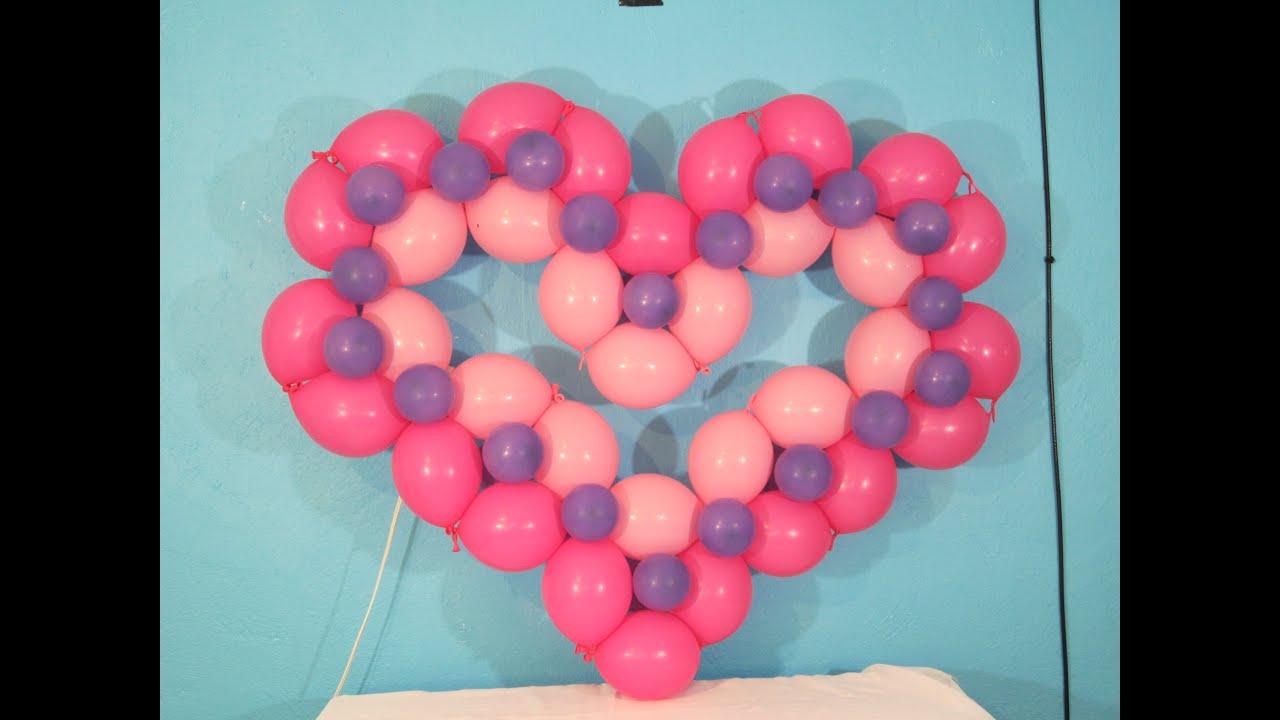 Corazon con globo bipolo decoraciones con globos youtube - Decoraciones con globos ...
