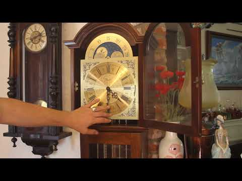 Vintage Fenclocks Suffolk, German 'FHS' Movement Grandmother Clock, 3 Melodies &  Moon Phases