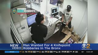 Suspect Armed With Knives Caught On Camera Robbing Bronx Cell Phone Stores, NYPD Says