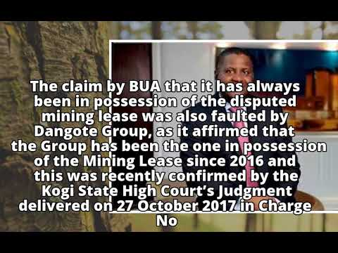 BUA Not Rightful Owner Of Mining Lease No 2541– DangoteBUA Not Rightful Owner Of Mining Lease No 254