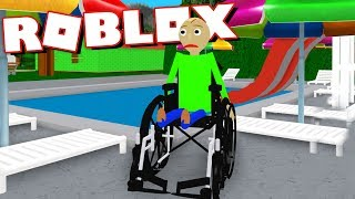 Playing as Baldi in a wheelchair and going for a swim! | Roblox Baldi's Basics RP