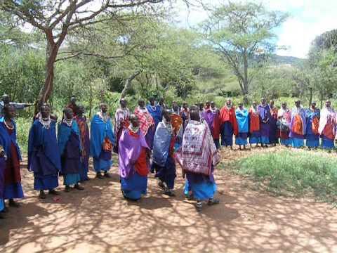 Olkiloriti Masai women express happiness