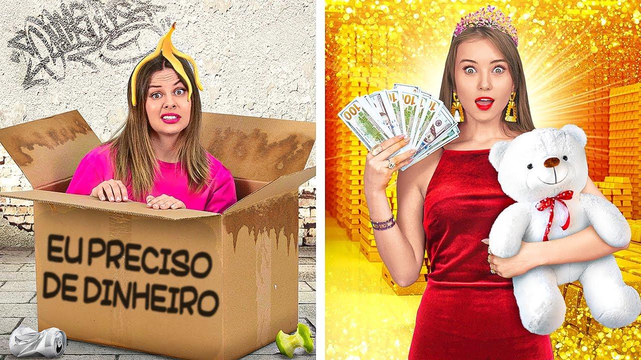 ESTUDANTES RICOS VS. ESTUDANTES SEM GRANA || Situações Engraçadas da Vida Real, por 123 GO!
