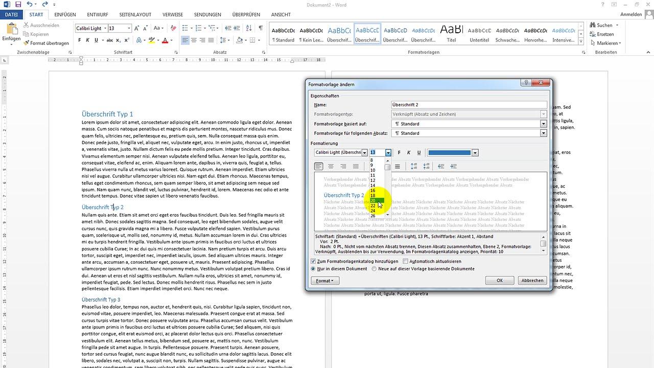 Formatvorlagen verwenden und bearbeiten – Word-Tutorial - YouTube