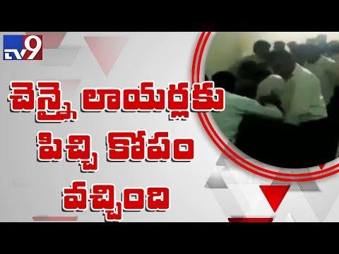 Lawyers thrash rape accused in Chennai Court - TV9