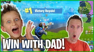 WE ARE NOT GOING FOR THE VICTORY ROYALE! DUO WITH DAD!