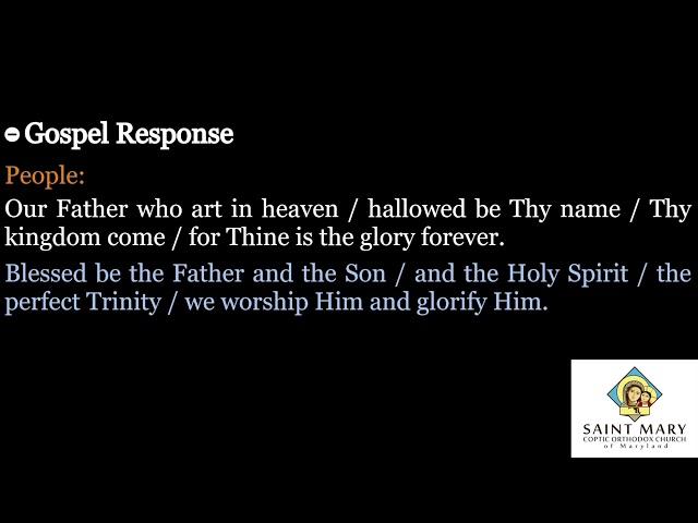 Lent Weekend Gospel Response