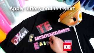 Instructions how to iron on the letters and numbers