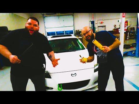 Flocking The Dash On A Mazda RX-8