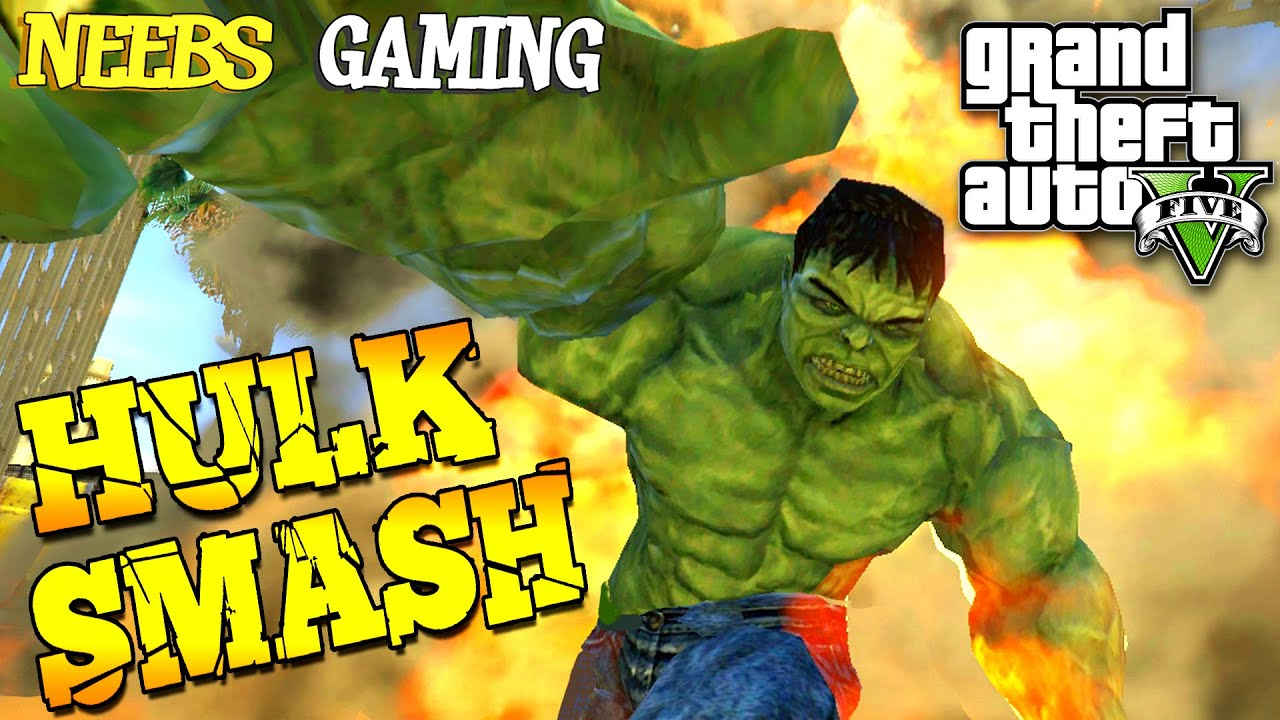 Gta  Hulk Mod Funny Moments Grand Theft Auto  Gameplay Video Youtube