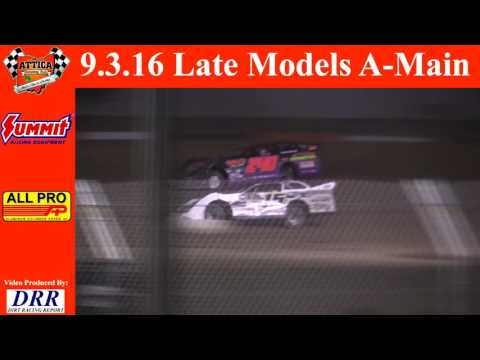 9.3.16 Attica Raceway Park Late Models A-Main