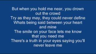 Repeat youtube video Ronan Keating - When You Say Nothing At All ( Lyrics)