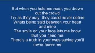 Ronan Keating - When You Say Nothing At All   Lyrics
