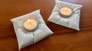 DIY Cement Cushion Holders Tutorial #1   Home Decor   How To Make - Anushree's Craft TV