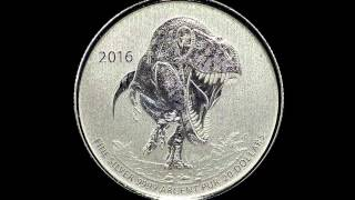 $20 for $20 Fine Silver Coin – T-Rex