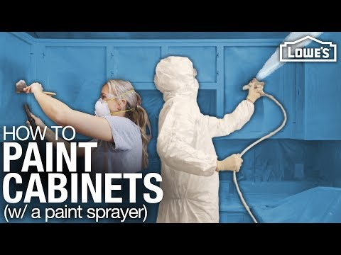 How To Paint Cabinets with a Paint Sprayer